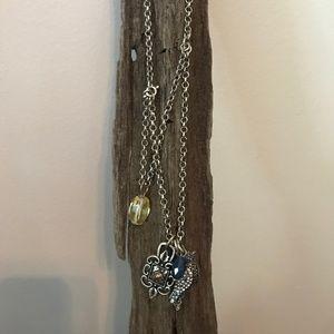 Lucky Brand Stackable Bird Necklace
